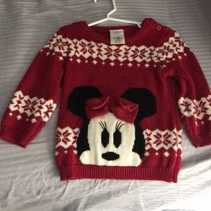 Disney Christmas Minnie Mouse sweater